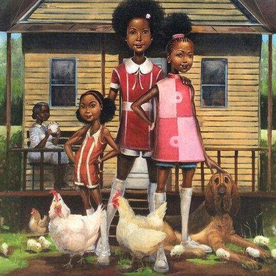 frank-morrison-painting-black-girls-chickens