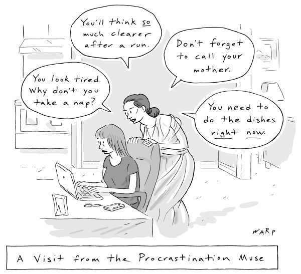 Procrastination Muse Writing