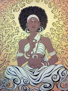 Black woman meditation1